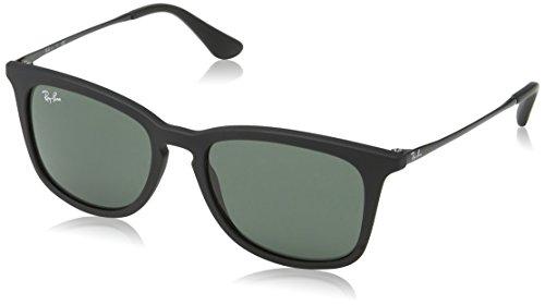 Ray-Ban Jr. Kids RJ9063s Square Sunglasses, Rubber Black, 48 - Bans Ray Jr