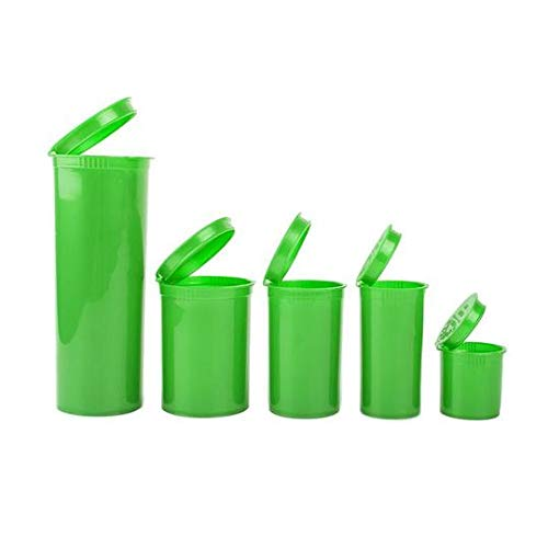Loud Lock - Pop Top Vial Container Bottles - 19 Dram Size - 225 Count Case (Green) by Loud Lock