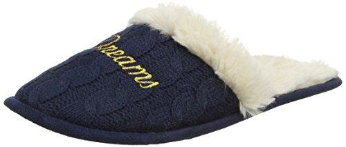 Women'secret C3-Knit Slprs Navy, Zapatillas de Casa para Mujer Azul (Blues 18)