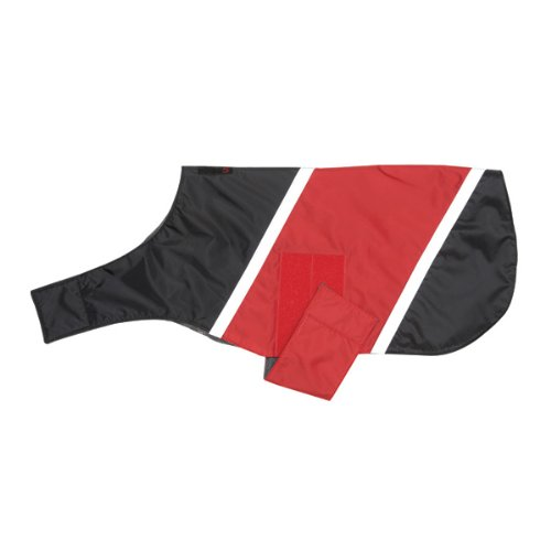 Ultra Paws Dog Coat, XX Small in Black with Red, My Pet Supplies