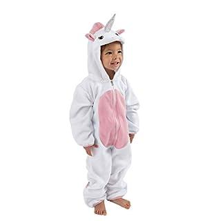 Cuddle Club Fleece Baby Bunting Infant Bodysuit Kids Hooded Romper - Unicorn - Pink - 3-6 Months