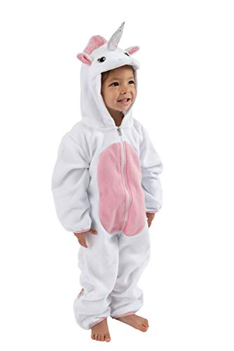 Last Unicorn Costume (Cuddle Club Fleece Baby Bunting Bodysuit for Newborn to 4T - Infant Winter Jacket Coat Toddler Costume -)