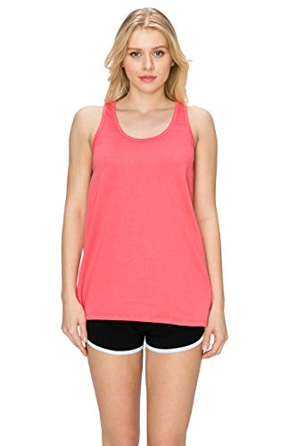 EttelLut Loose Fit Cute Casual Yoga Tank Tops for Women Summer Coral S