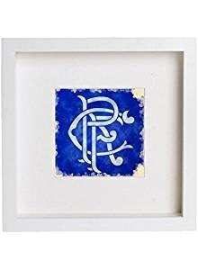 White One Size L Lumartos Wall Art Watercolour Print of Glasgow Rangers Football Club Scroll Crest Artwork 61