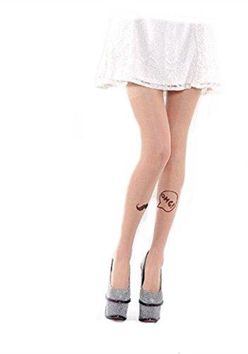 Demarkt Fantaisie Leggings Collants - Femme - Dessin Moustache