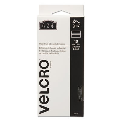 Extreme Fasteners, 1'' x 4'', Black, 10 sets by VELCRO Brand