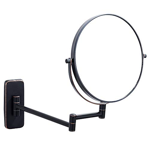 NiceVue Makeup Mirrors Wall 8 Inch Double-Side 10x Magnifying Mirror Wall Mounted Cosmetic Mirror Oil Rubbed Bronze