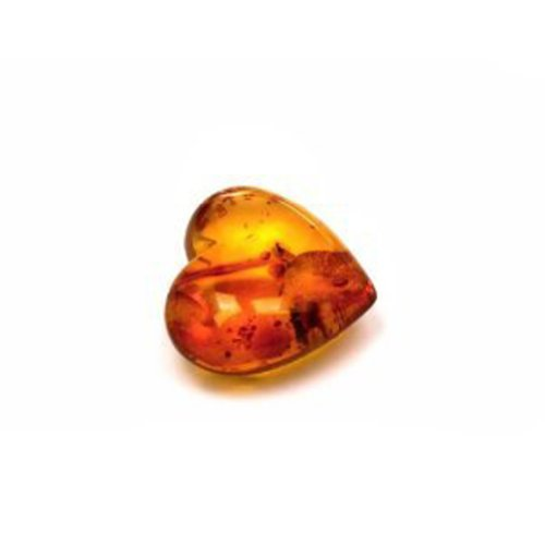 Baltic Cognac Color Amber Good Heart Small Gemstone