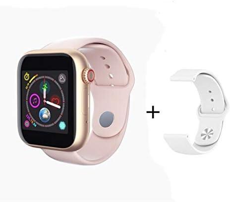 XINGPENGME 2020 Nieuwe Slimme Reloj Sim-Mapa El Bluetooth iOS Android Reloj Relojes Telefoon cámara Muziekspeler Deporte SmartWatch Iwo 10 12 PK F10 (Grootte : Add 8G Card, Kleur : Pink)