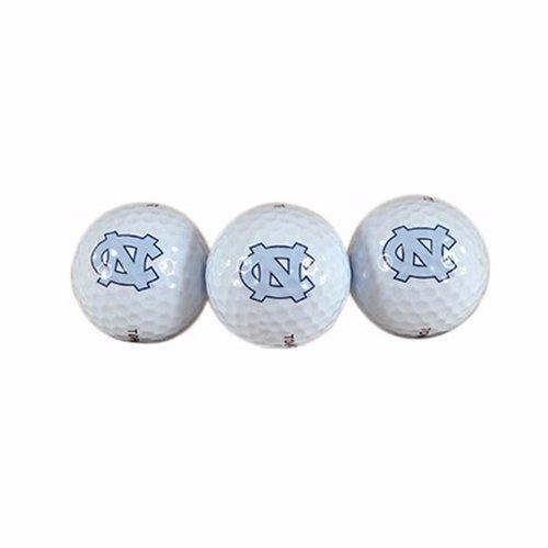Team Effort North Carolina Tar Heels Golf Ball 3 Pack (North Carolina Heels Golf Ball Tar)