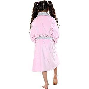 A2Z 4 Kids Kids Girls Boys Bathrobes Designer Plain Baby Pink Soft Dressing Gown Nightwear Loungeweasr Age 2 3 4 5 6 7 8…