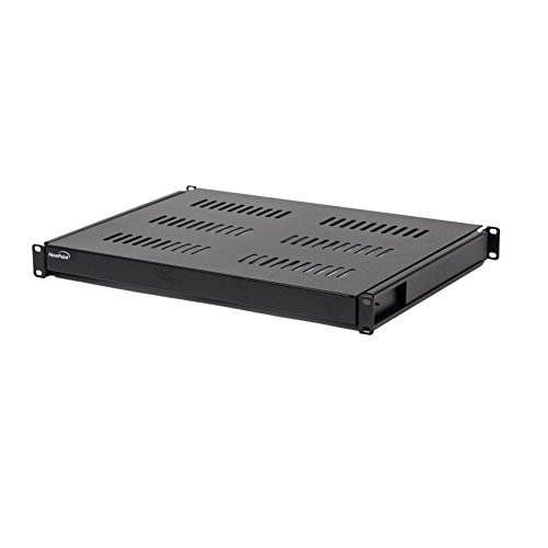 Rackmount Sliding Shelf - NavePoint 1U 19-Inch Sliding IT Network Cabinet Shelf For 600mm Depth Cabinet Enclosure Black