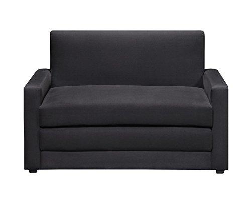 DHP Microfiber Double Undfolding Sleeper Sofa Chair, Black