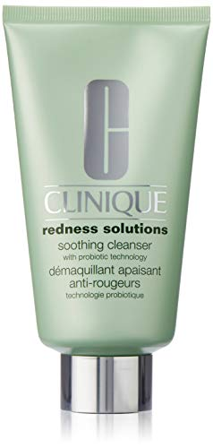 (Clinique Redness Solutions Soothing Cleanser for Unisex, 5 Ounce )