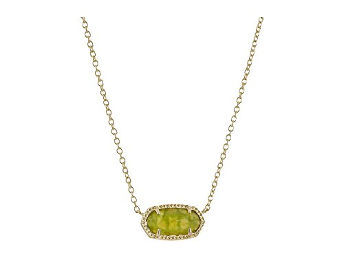 Kendra Scott Women's Elisa Birthstone Necklace August/Gold/Peridot Illusion Necklace