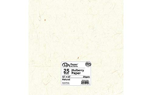 Accent Design Paper Accents Mulberry 12x12 25gsm Natural