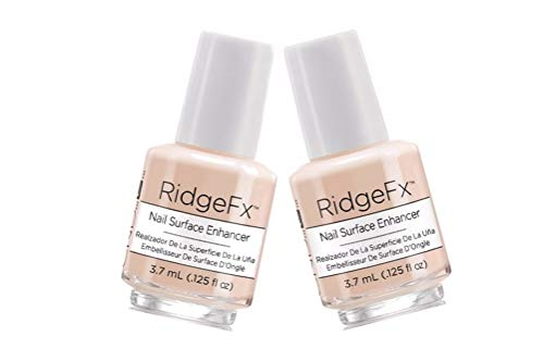 (2 X Mini Creative Nail Design Ridge Fx Nail Surface Enhancer Nail Surface Enhancer smooths out ridges and masks imperfections for a beautiful color application 3.7 ml.)