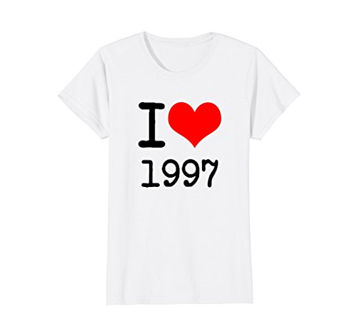 Womens I Love 1997 T Shirt - 90s Clothing XL - Cool In The Was What 90s