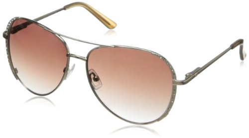 O by Oscar de la Renta Eyewear Women's SSC4020 Aviator Sunglasses,Light Gold,174 - De Oscar Sunglasses Renta