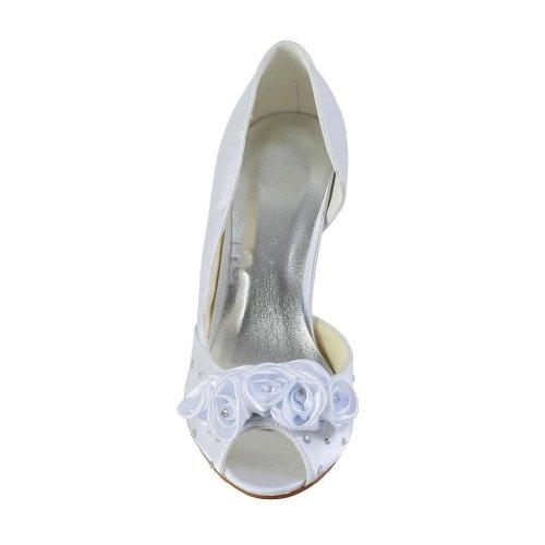 Jia Jia Wedding 594943A Hochzeitsschuhe Brautschuhe Damen Pumps Weiß