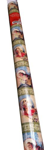 Vintage COWGIRL ~ Christmas Gift Wrap