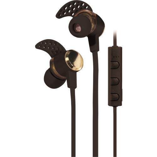 - ESI CASES Blaupunkt Bluetooth Fin Style Earbuds with Mic- Black - Stereo - Black - Wireless - Bluetooth - 50 ft - 16 Ohm - 20 Hz - 20 kHz - Earbud, Behind-The-Neck - Binaural - in-Ear