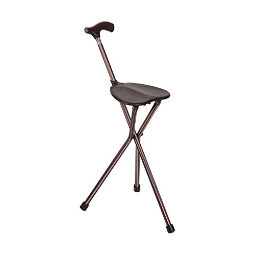 Walking Stick Chair Combo, Folding Walking Cane, Switch Sticks Lightweight Adjustable Medical Foldable Cane with Seat, Kensington - Cane Stool Folding
