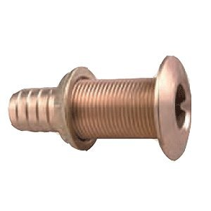 (Perko 0350005DPP Plain Bronze Thru-Hull Connection for Use with Hose 3/4)