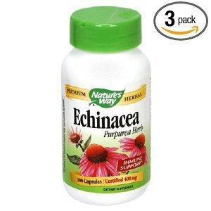 Echinacea manière de la nature, Herb Purpurea, 400 mg, capsules, 100 Capsules (pack de 3)