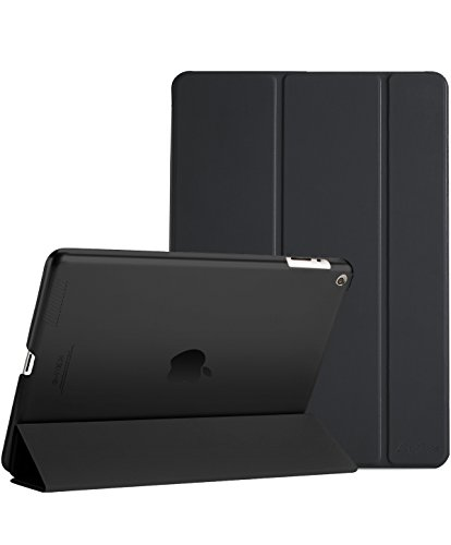ProCase iPad 2 3 4 Case (Old Model) - Ultra Slim Lightweight Stand Case with Translucent Frosted Back Smart Cover for Apple iPad 2/iPad 3 /iPad 4 -Black