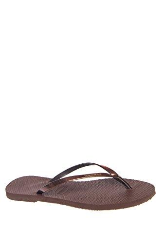 Havaianas You Metallic Flip Flops (dark Brown) Womens Sandals (37-38 BR / 7-8 B(M) US Women / 5-6 D(M) US - Brown Havaianas