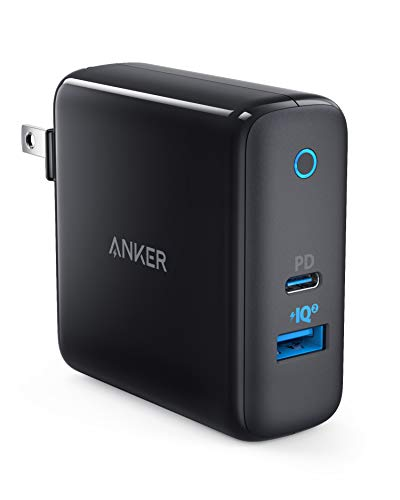 USB C Charger, Anker PowerPort II, UL Certified 49.5W Wall Charger with Foldable Plug, One 30W Power Delivery Port for...