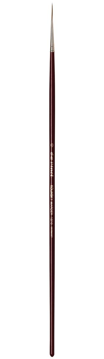 da Vinci Oil & Acrylic Series 1210 Oil Paint Brush, Liner Kolinsky Red Sable, Size 0 (1210-0)