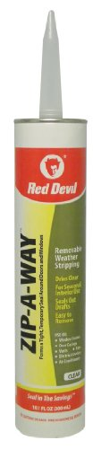 Red Devil 0606 Zip-A-Way Removable Sealant, Clear, ()