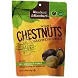 Blanchard Organic Whole Chestnuts Roasted and Peeled (Pack of 12)