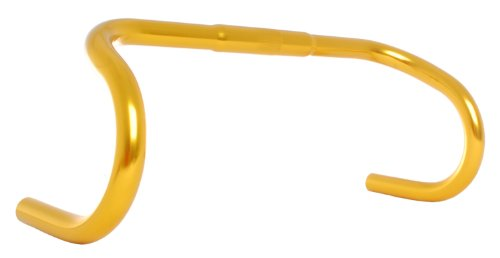 Vilano Anodized 25.4 400mm Fixed Gear Bike Drop Bar Handlebar Alloy, Yellow