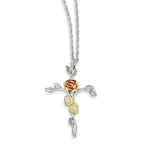 Rose Sterling Silver Crucifix - ICE CARATS 925 Sterling Silver 12k Rose Cross Religious Chain Necklace Pendant Charm Crucifix Fine Jewelry Ideal Gifts For Women Gift Set From Heart