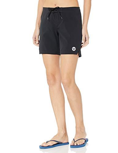 Roxy Women's to Dye 7 Inch Boardshort, True Black, XL (Womens Size 7 Shorts)