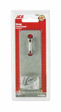 ACE LIVING ACCENTS 01-3725-189 ACE Fixed Safety Hasp Galvanized 4-1/2