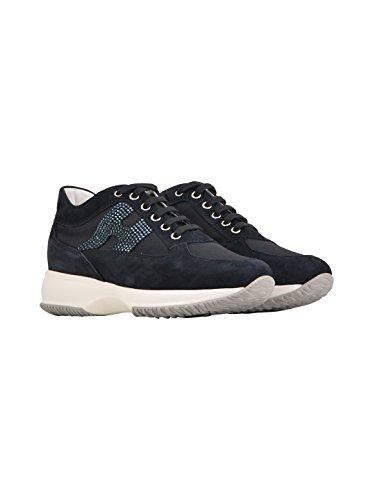 Hogan Dame Hxw00n2011fi70071 Blauwe Leider Sneakers