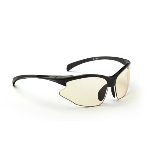 Interchangeable Optics - Optic Nerve 2-Lens Interchangeable Half Frame Lightweight Sunglasses, UV Protection Sports Sunglasses for Running and Outdoor Activities, Omnium - Shiny Black with Smoke and Photomatic-Brown2Brown