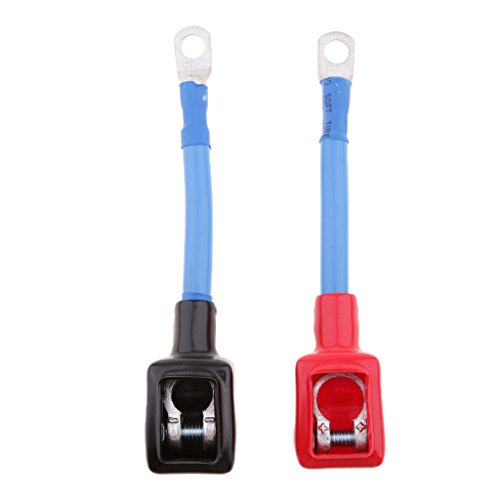 H HILABEE Automotive Battery Extension Wire Connector Coupler Positive+Negative: