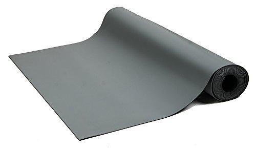Bertech ESD High Temperature Rubber Mat Roll, 3' Wide x 50' Long x 0.08'' Thick, Gray by Bertech