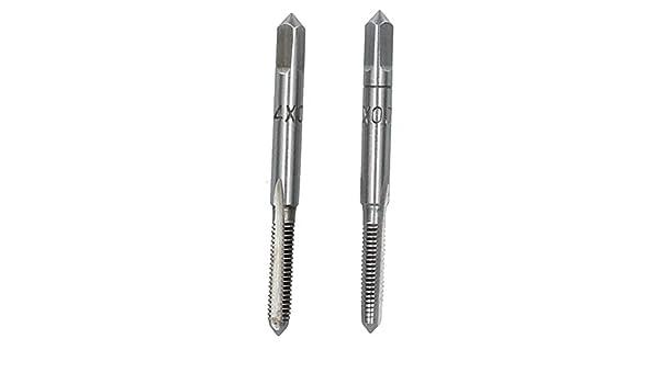 Tungsten Steel M2 x 0.4mm Metric Tap Set Taper and Plug Thread Cutter TD035