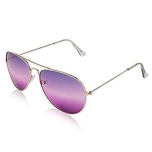 Aviator Sunglasses For Women And Men 2 tone lens Non Prescription Glasses Purple
