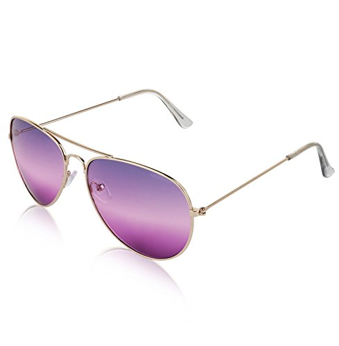 Aviator Sunglasses For Women And Men 2 tone lens Non Prescription Glasses - Cute Sunglasses Aviator