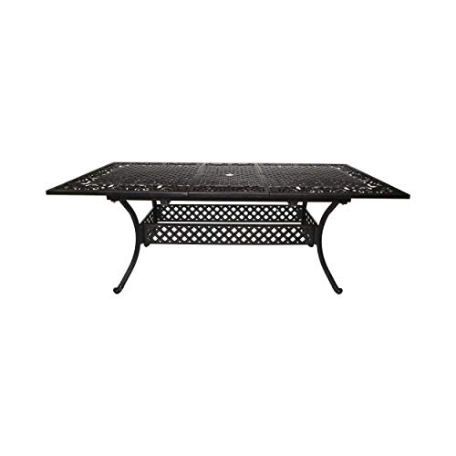 Great Deal Furniture Outdoor Expandable Patio Dining Table, 64″ – 81″, Cast Aluminum, Shiny Copper