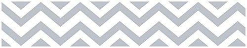 Border Baby Bedding (Sweet JoJo Designs Gray and White Chevron Zig Zag Modern Wall Paper Border)