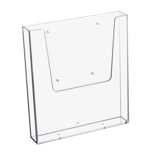 DIN A4 Wandprospekthalter im Hochformat, transparent