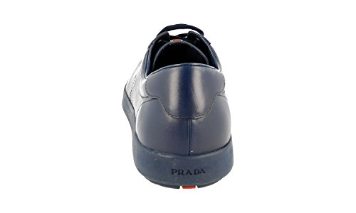Prada Menns 4e2860 Skinn Sneaker